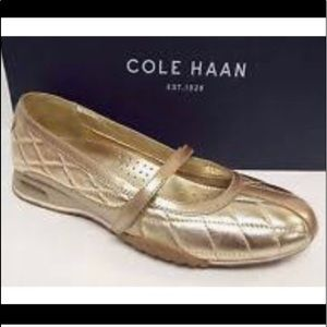 NWOT Cole Haan Air Brea Metallic Gold Flats